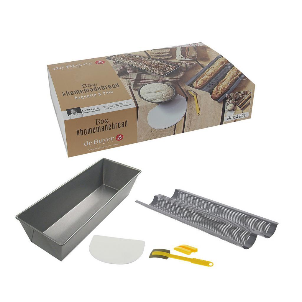 Produktové foto Sada na domácí pečení - chléb a pečivo de Buyer 4 ks