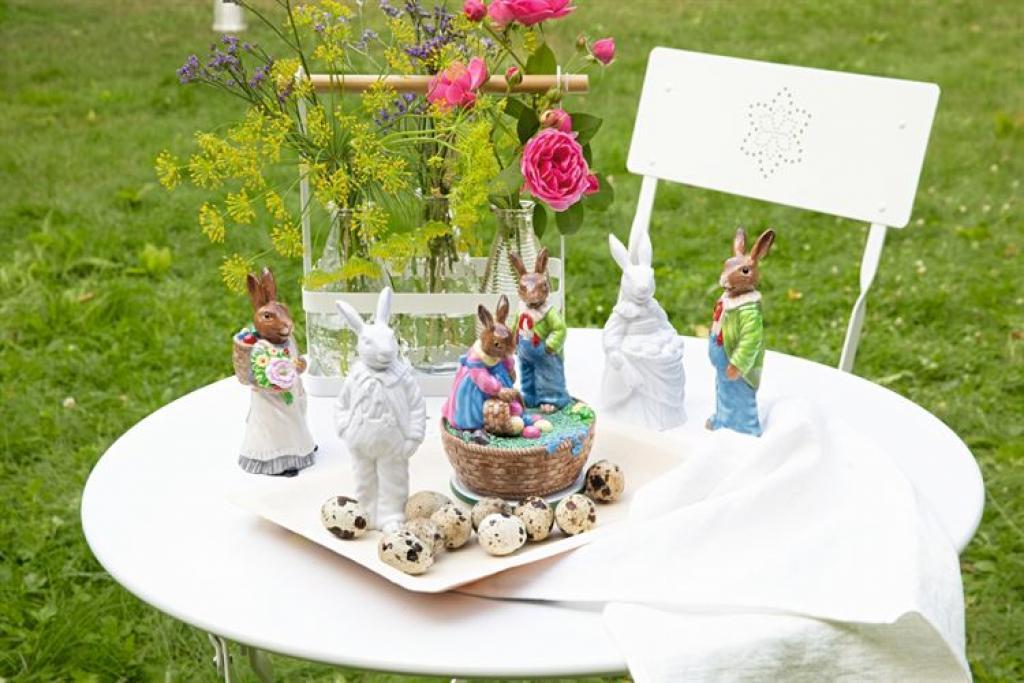Produktové foto Porcelánový králík s košem Rabbit Collection Rosenthal bílý 14 cm