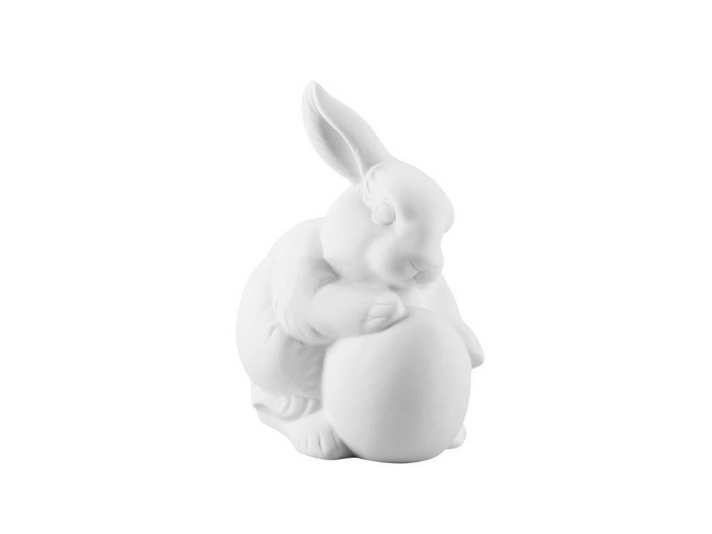 Produktové foto Porcelánový králík s vajíčkem Rabbit Collection Rosenthal bílý 10 cm