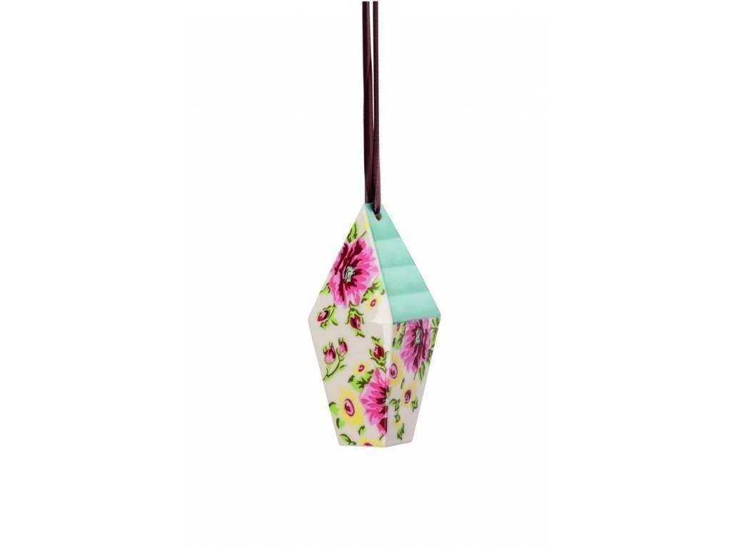 Produktové foto Závěsná dekorace domeček Springtime Flowers Rosenthal 10,7x4,4 cm