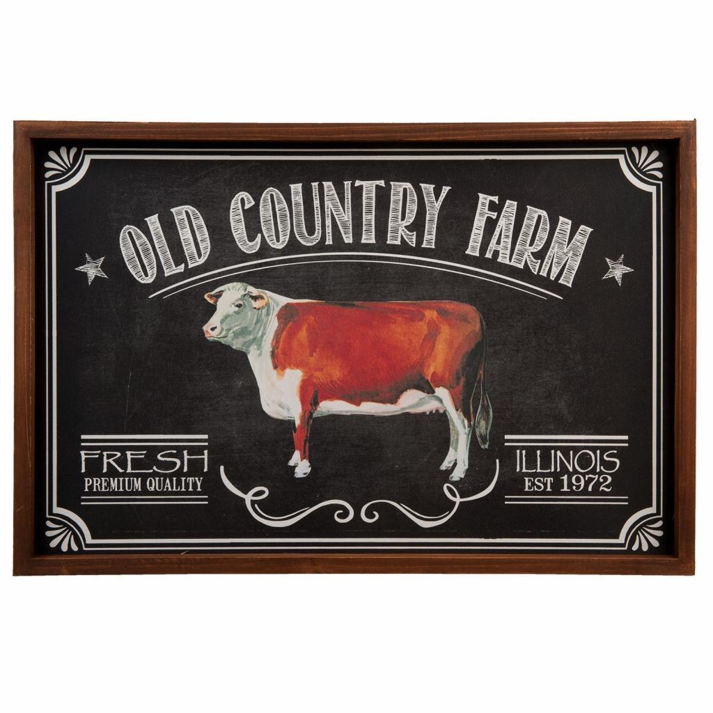 Produktové foto Clayre & Eef Obraz Old country farm - 56*2*37 cm