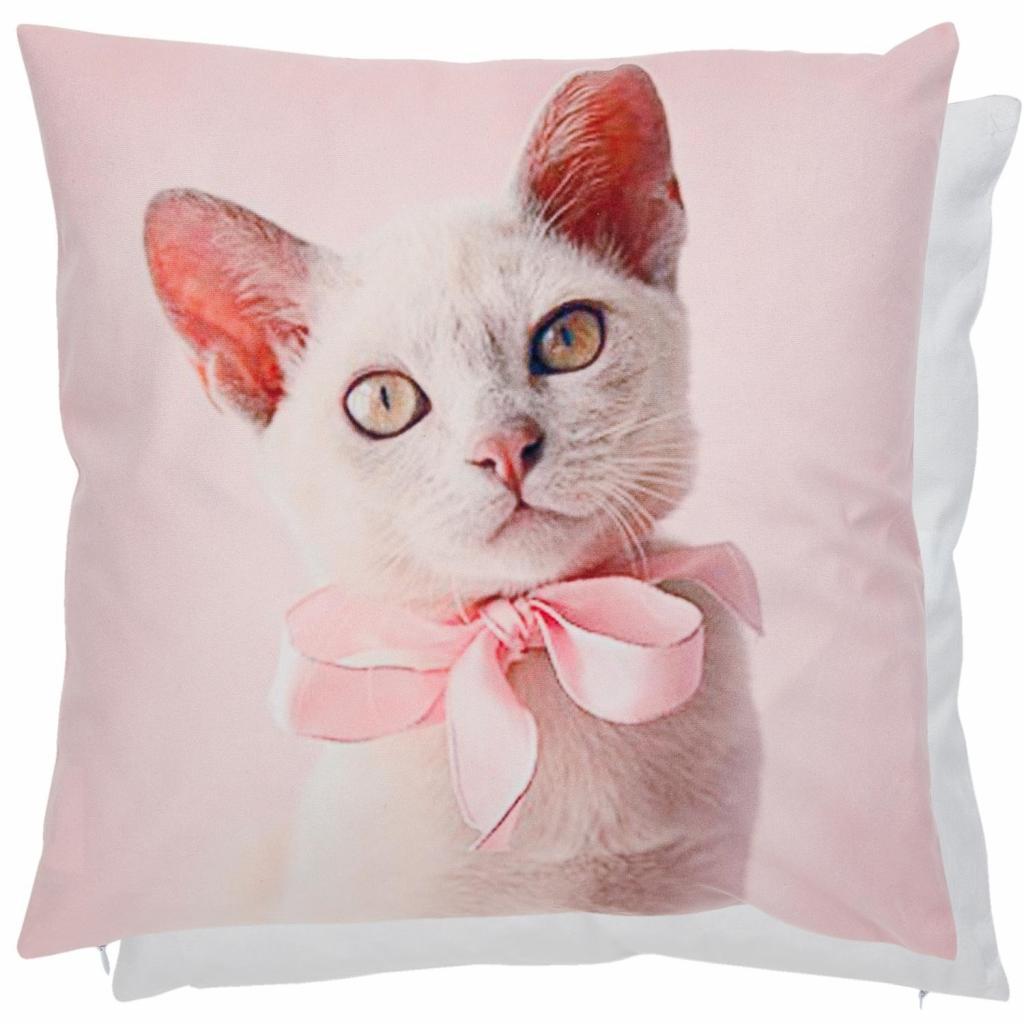 Produktové foto Clayre & Eef Povlak na polštář REAL ANIMALS kočka -  45*45 cm