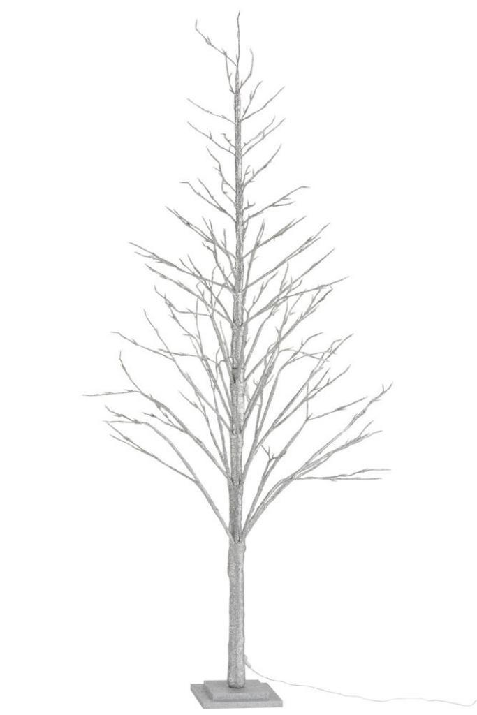 Produktové foto J-Line by Jolipa Stříbrný svítící vánoční stromek -  60*60*210cm