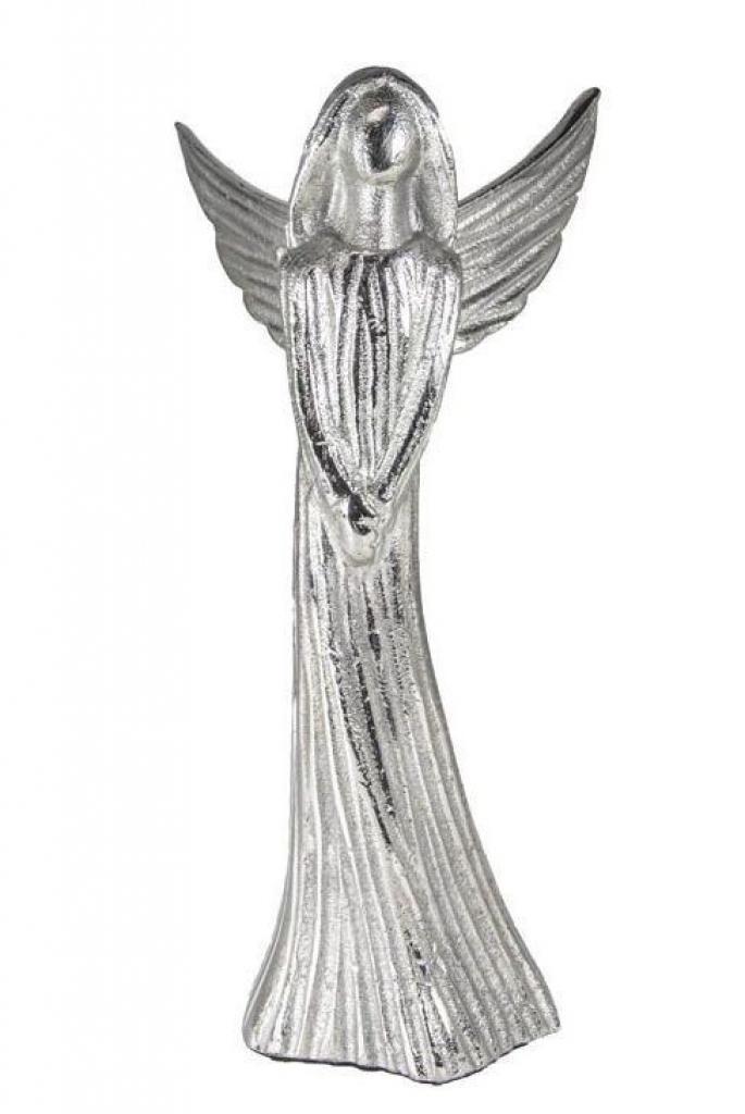 Produktové foto Colmore by Diga Kovový stříbrný anděl Anael - 29*22*46cm