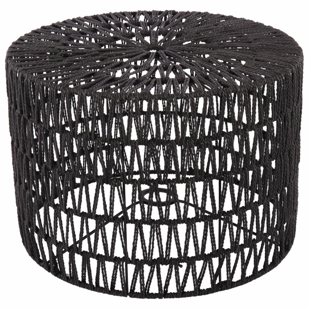 Produktové foto Collectione Černé provázkové stínidlo na lampu Luca cylinder - Ø 40*28cm / E27