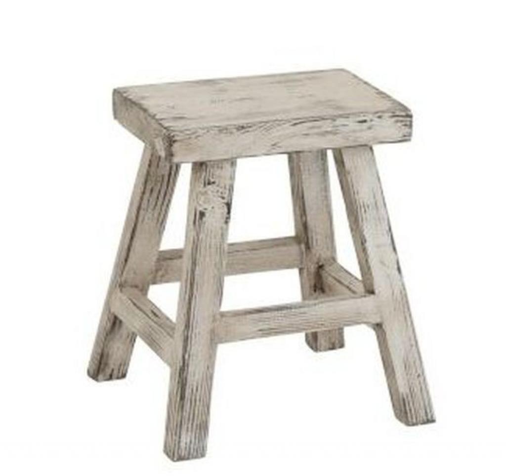 Produktové foto J-Line by Jolipa Dřevěná bílá stolička Ibiza - 40*37*45cm