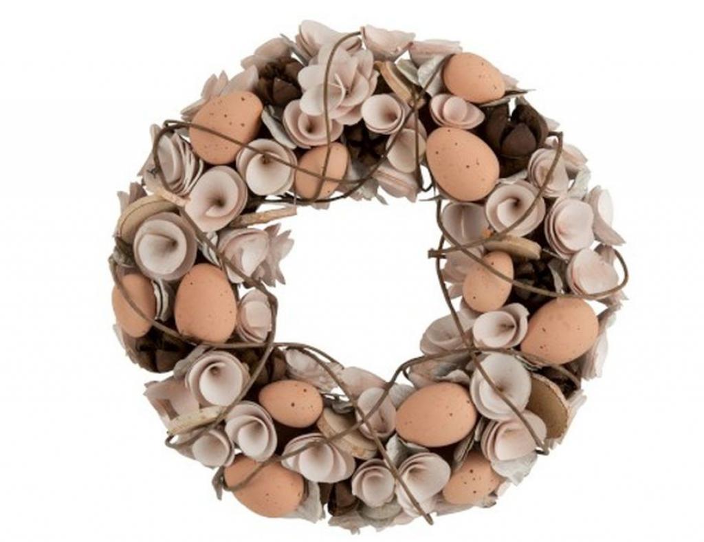 Produktové foto J-Line by Jolipa Velikonoční věnec s vajíčky Eggs - Ø 32*8 cm