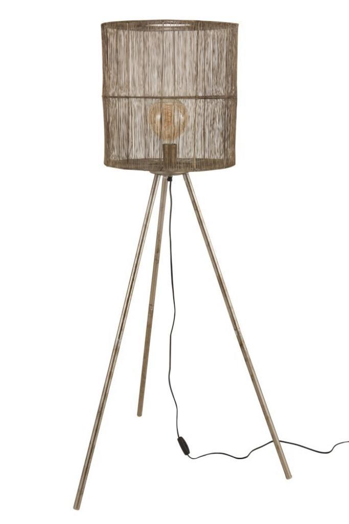 Produktové foto J-Line by Jolipa Kovová bronzová stojací lampa Antiek - Ø 40*140cm