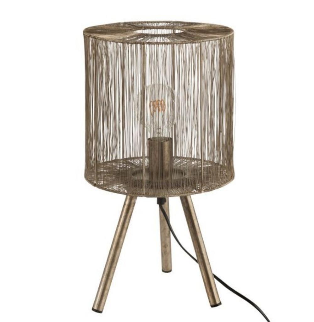 Produktové foto J-Line by Jolipa Kovová bronzová stolní lampa Antiek - Ø 25*45cm
