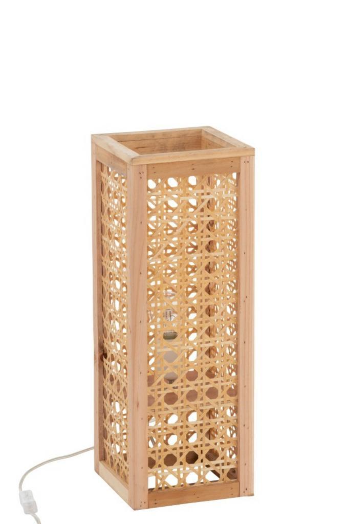 Produktové foto J-Line by Jolipa Přírodní bambusová stolní lampa Rectan - 18*18*50cm