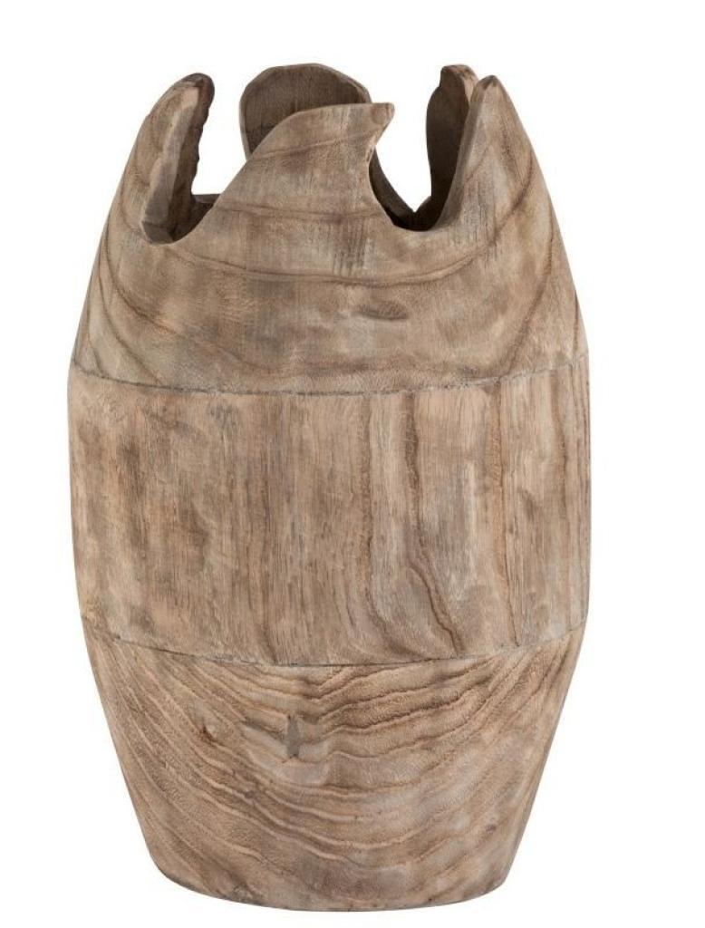 Produktové foto J-Line by Jolipa Dřevěná dekorační váza Ermi - ∅ 26*42cm