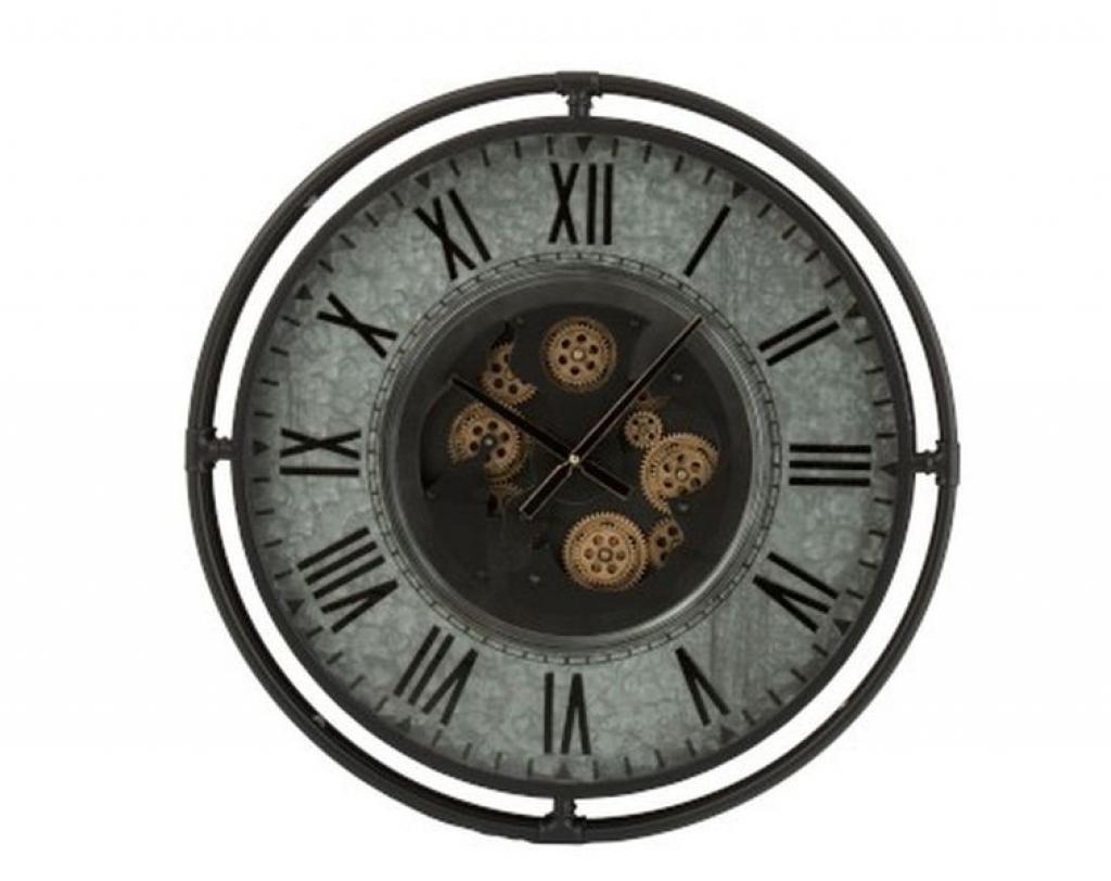 Produktové foto J-Line by Jolipa Kovové nástěnné hodiny s pohyblivým strojkem Romani - ∅68*10cm