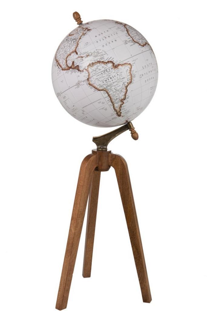 Produktové foto J-Line by Jolipa Dekorace glóbus na dřevěné trojnožce Wond - Ø40*104cm