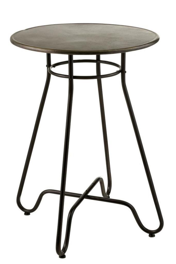 Produktové foto J-Line by Jolipa Černý kovový barový stolek Industrial - Ø70 * 99cm