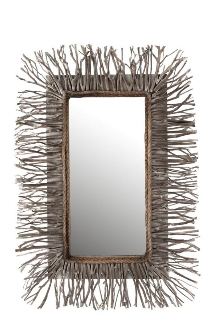 Produktové foto J-Line by Jolipa Dřevěné zrcadlo Branchy - 67*7*95 cm