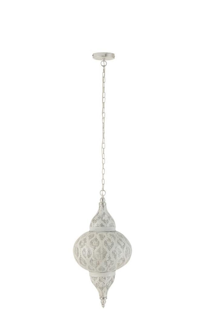 Produktové foto J-Line by Jolipa Bílé kovové závěsné světlo/lustr Oriental drop - Ø 31*133 cm