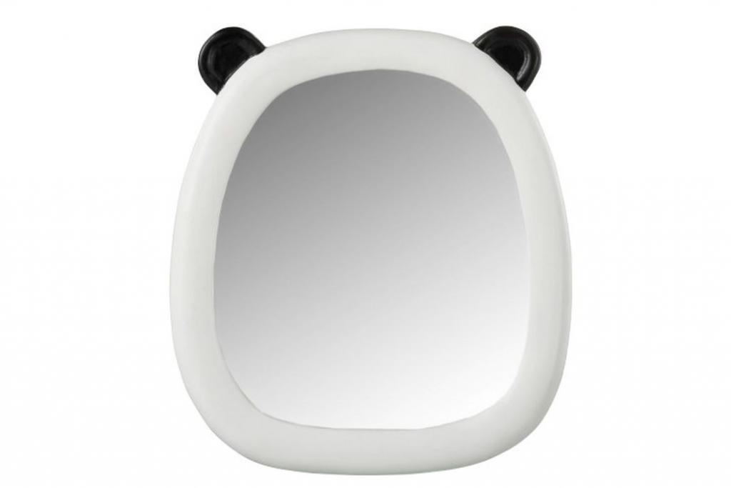 Produktové foto J-Line by Jolipa Nástěnné bílo-černé zrcadlo Panda - 25*2*28cm