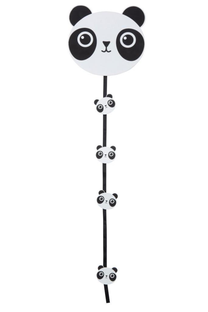Produktové foto J-Line by Jolipa Dekorace girlanda Panda s kolíčky  - 19*17*74cm