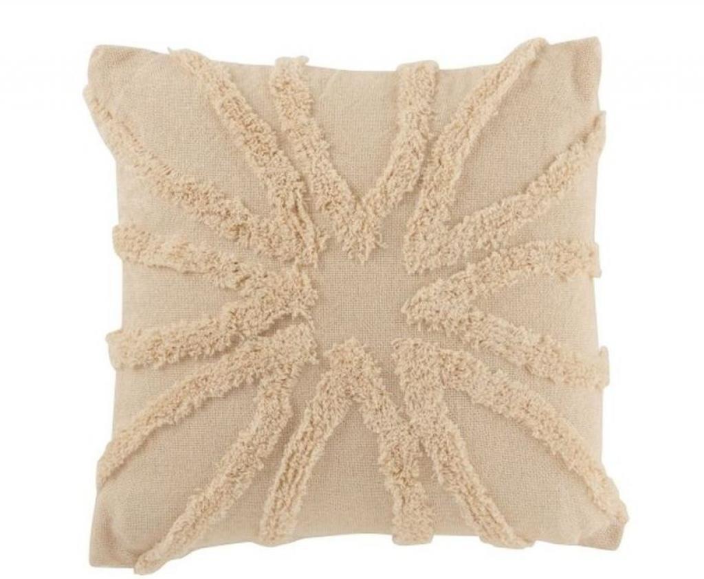 Produktové foto J-Line by Jolipa Přírodní bavlněný polštář s třásněmi Ibiza flower - 45*45cm