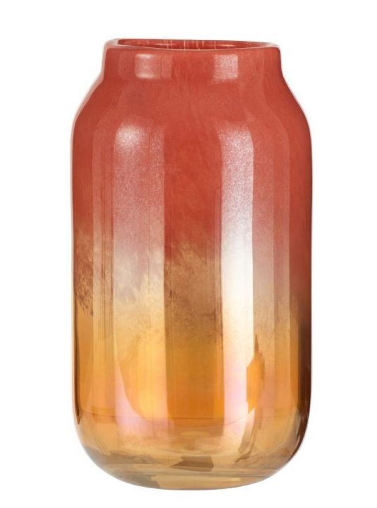 Produktové foto J-Line by Jolipa Oranžová skleněná váza Oriental orange - Ø 17*30cm
