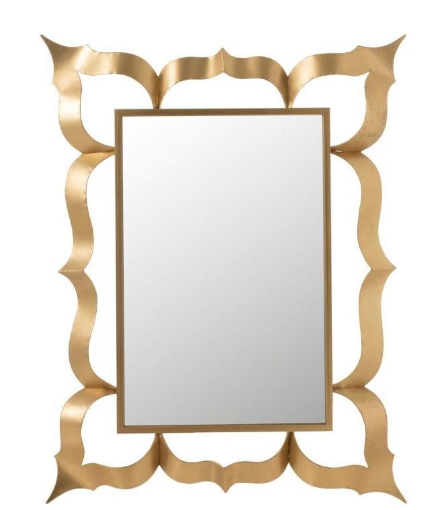 Produktové foto J-Line by Jolipa Nástěnné zrcadlo s kovovým zlatým rámem Baroque - 101*6*130 cm