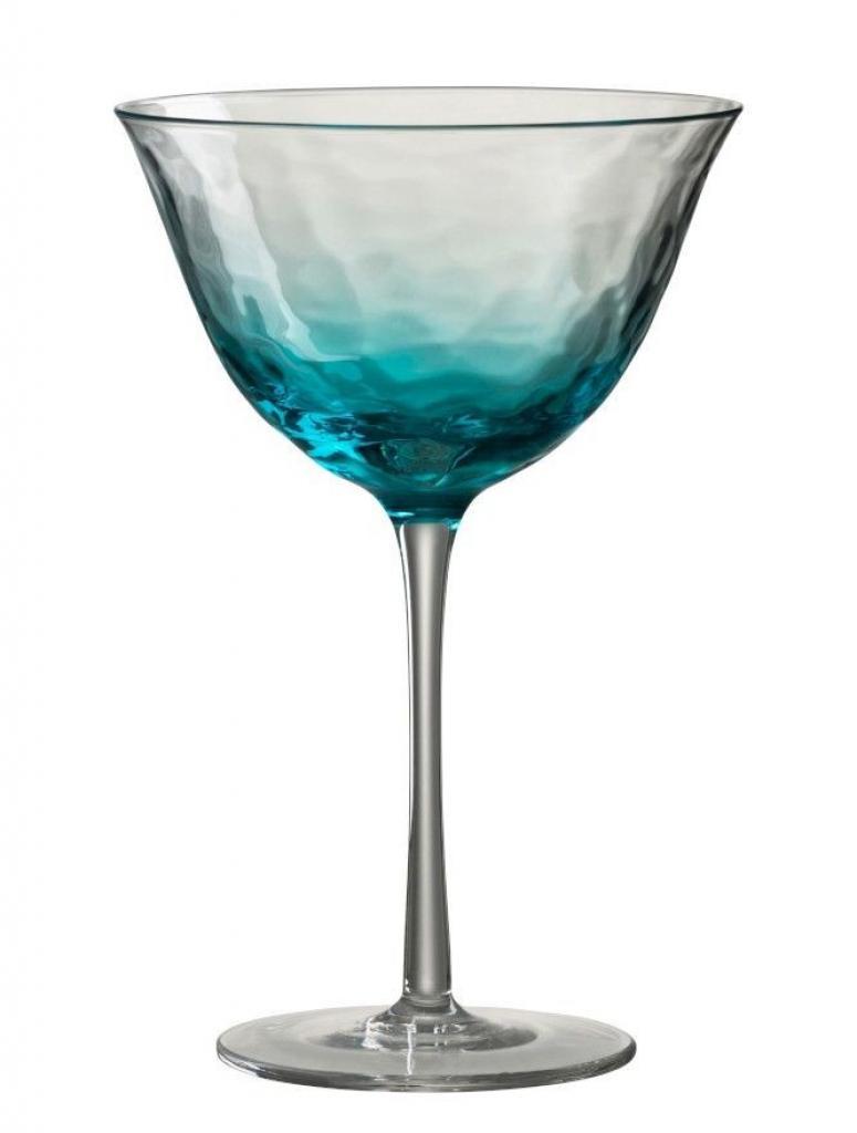 Produktové foto J-Line by Jolipa Modrá sklenička na koktejl Verma - Ø 12*18 cm