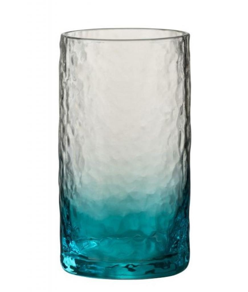 Produktové foto J-Line by Jolipa Modrá sklenička na vodu Verma - Ø 7*13,5 cm