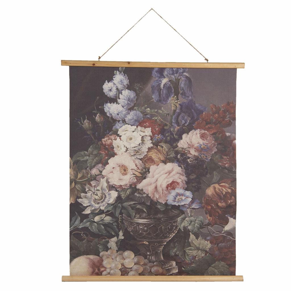 Produktové foto Nástěnný plakát zobracující malbu zátiší květin a ovoce - 80*2*100 cm