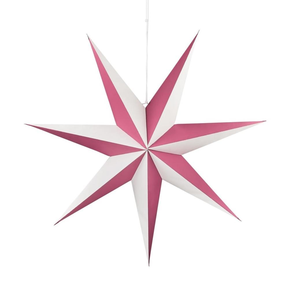 Produktové foto LATERNA MAGICA Papírová dekorační hvězda 60 cm - malinová