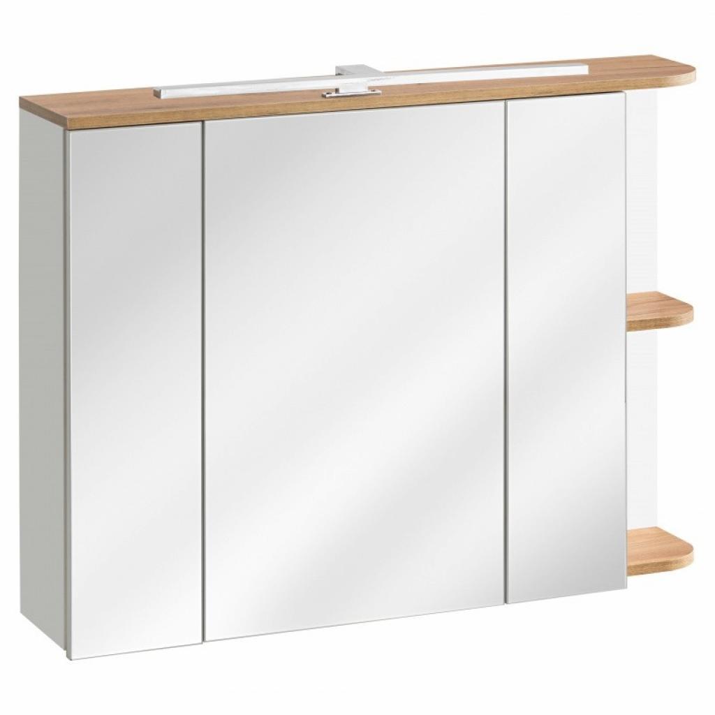 Produktové foto Hector Koupelnová skříňka Platinum bílá/dub