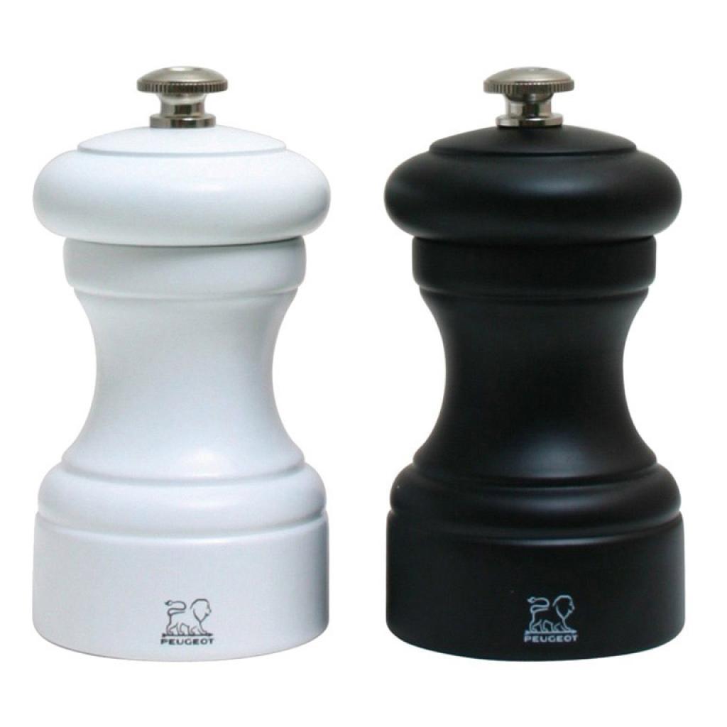 Produktové foto Peugeot Dárkový set mlýnků na pepř a sůl Bistro černo/bílý, bukové dřevo 10 cm
