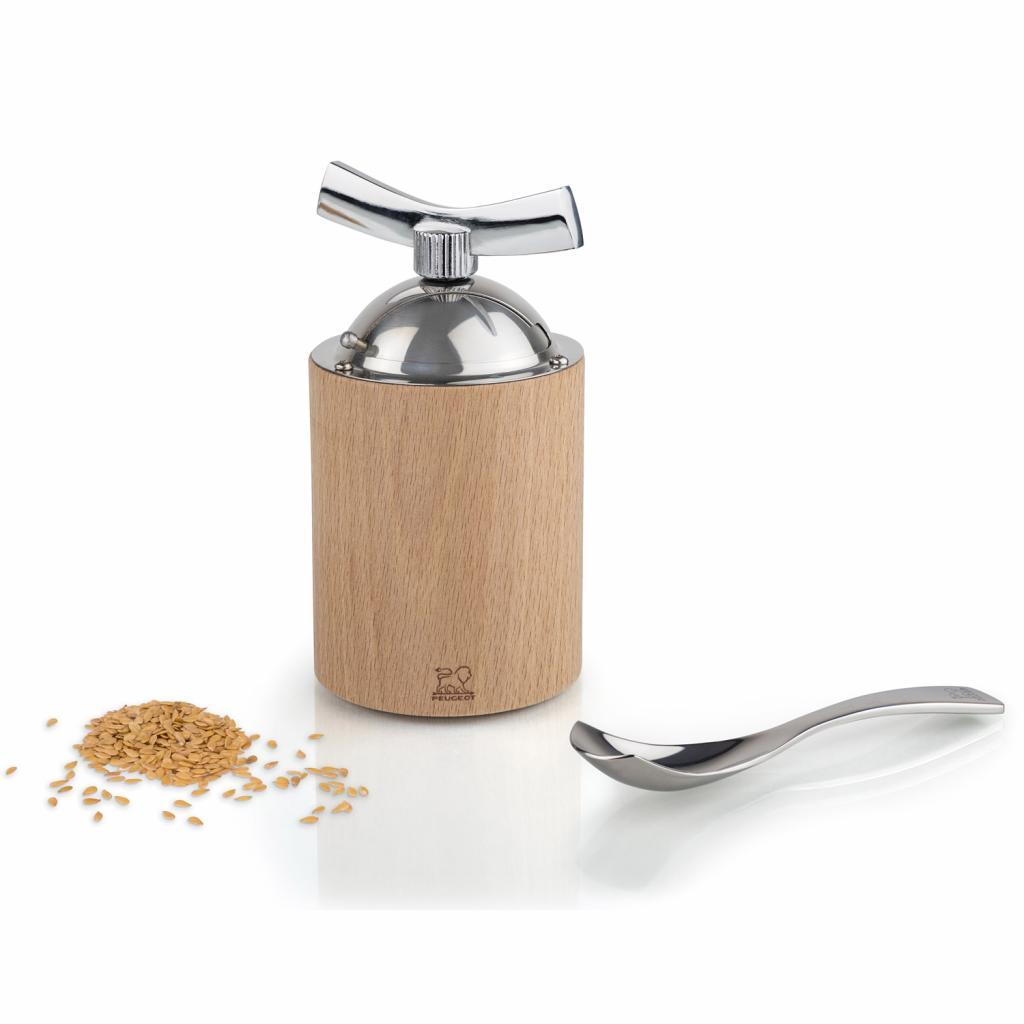 Produktové foto Peugeot Mlýnek na lněná semínka ISEN přírodní dřevo/nerez 13 cm