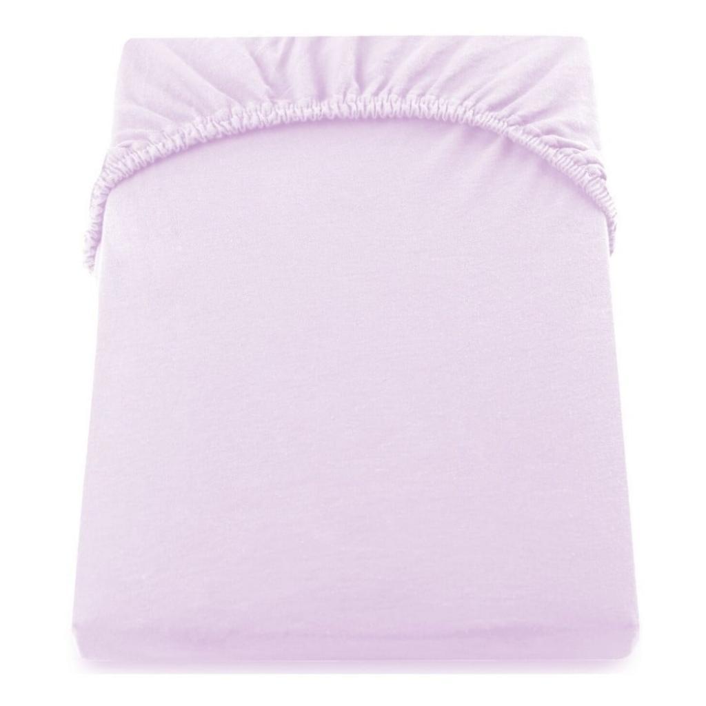 Produktové foto Světle fialové elastické prostěradlo DecoKing Amber Collection, 100/120 x 200 cm