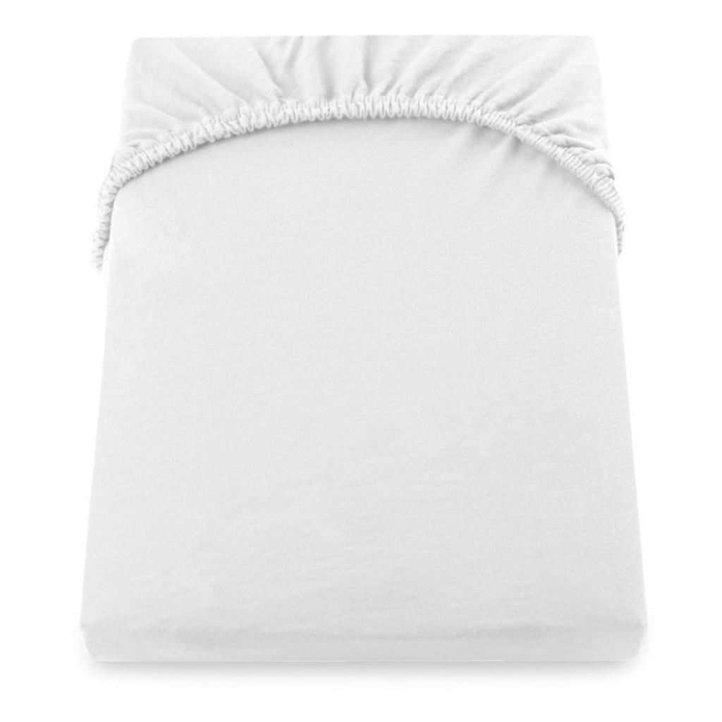 Produktové foto Bílé elastické prostěradlo DecoKing Nephrite, 140/160 x 200 cm