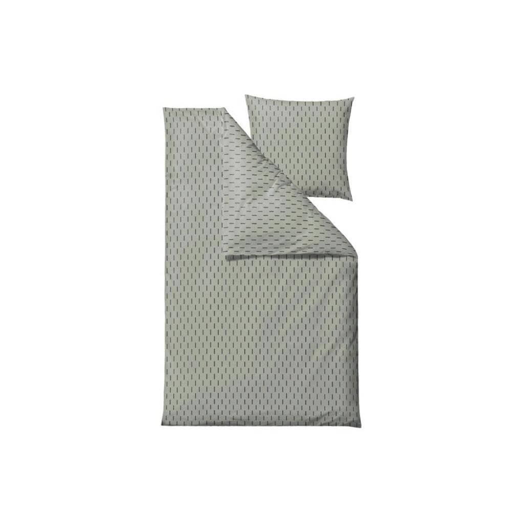 Produktové foto Zelené povlečení na jednolůžko z ranforce bavlny Södahl Graphic,140x220cm