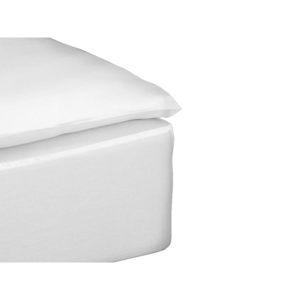 Produktové foto Bílé prostěradlo na jednolůžko z bavlněného saténu Södahl,90x200 cm