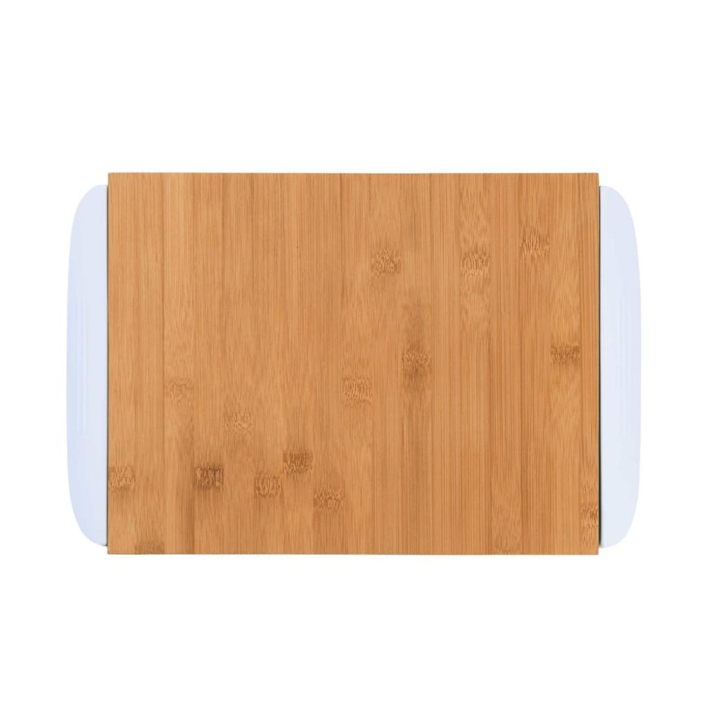Produktové foto BAMBOO Bambusové prkénko se 2 miskami