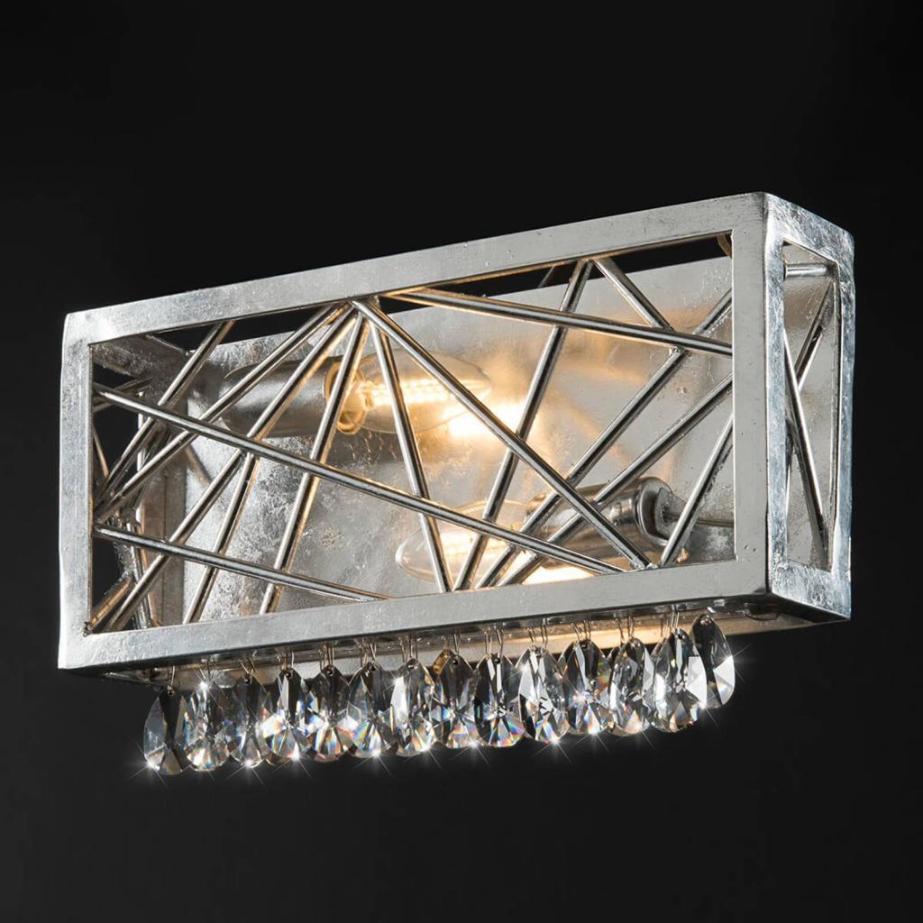 Produktové foto Ferro Luce Stříbrné křišťálové nástěnné světlo Alice