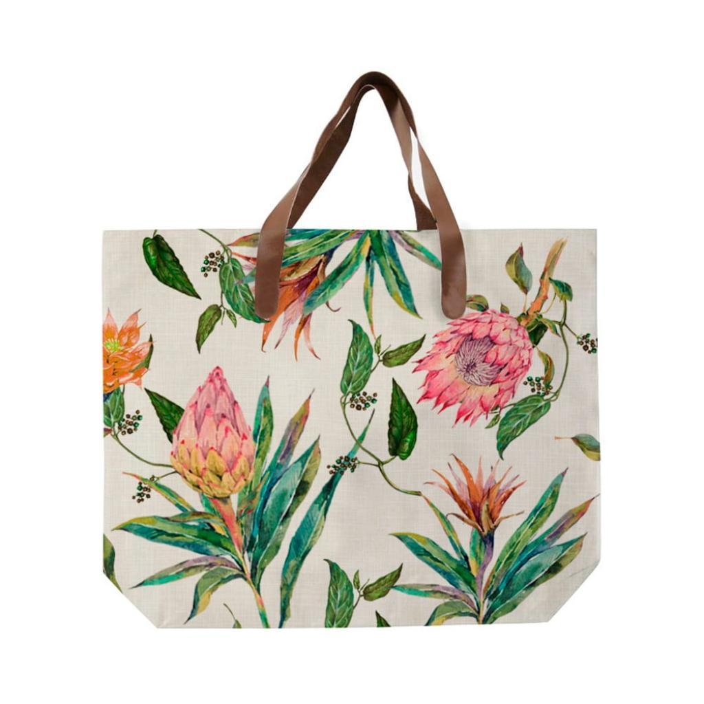 Produktové foto Plátěná taška s uchem z imitace kůže Madre Selva Flores Salvajes