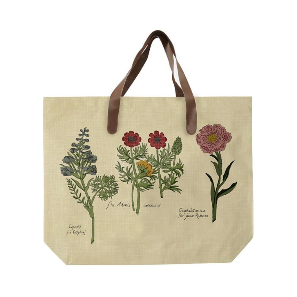 Produktové foto Plátěná taška s uchem z imitace kůže Surdic Flowers