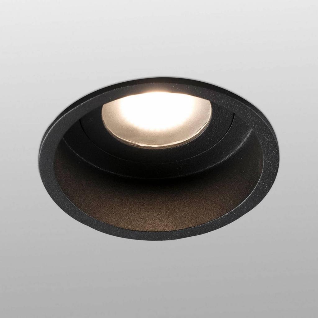 Produktové foto FARO BARCELONA Vestavný spot Hyde 1 zdroj rám kulatý IP44 černá