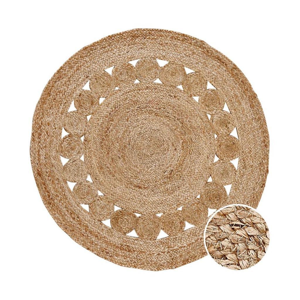 Produktové foto ALL NATURE Konopný koberec s děrovaným vzorem - přírodní