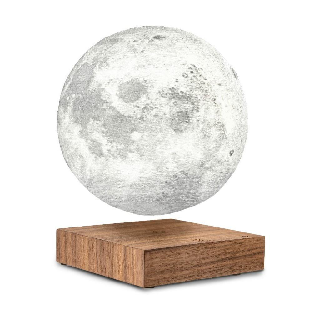 Produktové foto Stolní levitující lampa ve tvaru Měsíce Gingko Moon Walnut