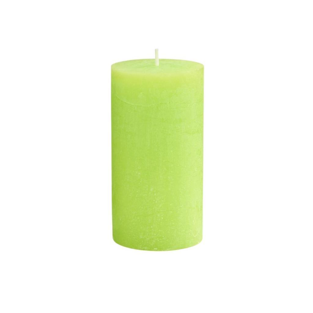 Produktové foto RUSTIC Svíčka 13 cm - sv. zelená