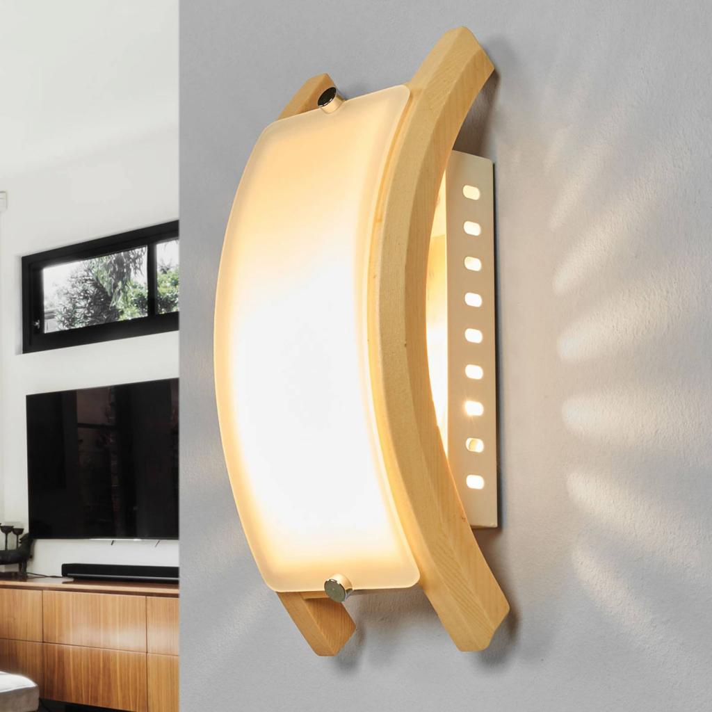 Produktové foto Globo Nástěnné svítidlo ADMIRAL, E14 dřevo světlé