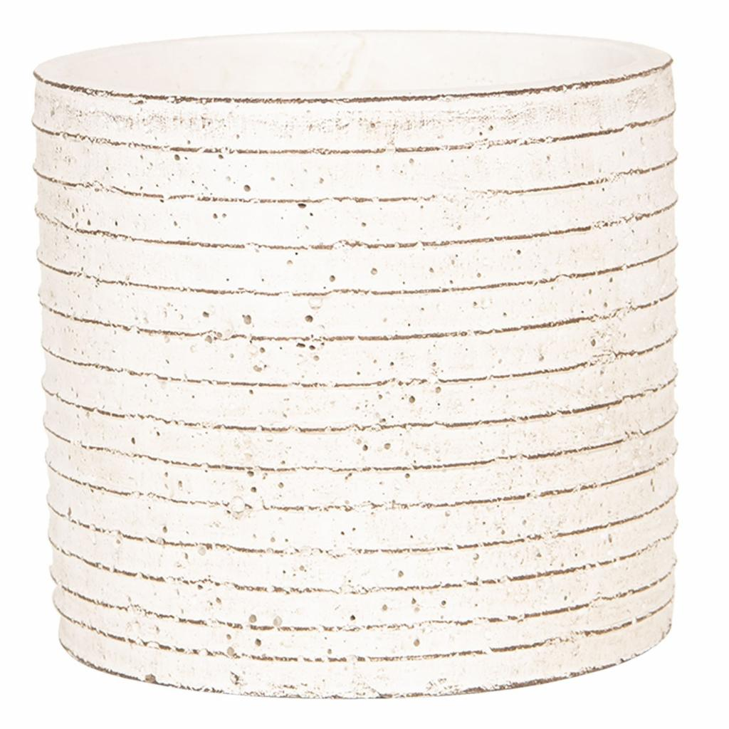 Produktové foto Clayre & Eef Květináč betonový s linkami - Ø 14*13 cm