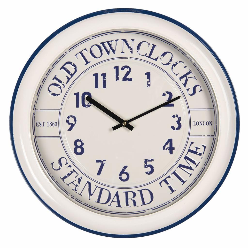 Produktové foto Clayre & Eef Nástěnné hodiny Old Town Clocks – Ø 43*7 cm / 1*AA