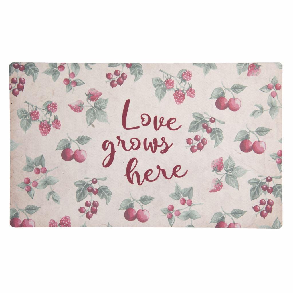 Produktové foto Clayre & Eef Podlahová rohožka Love grows here - 74*44*1 cm