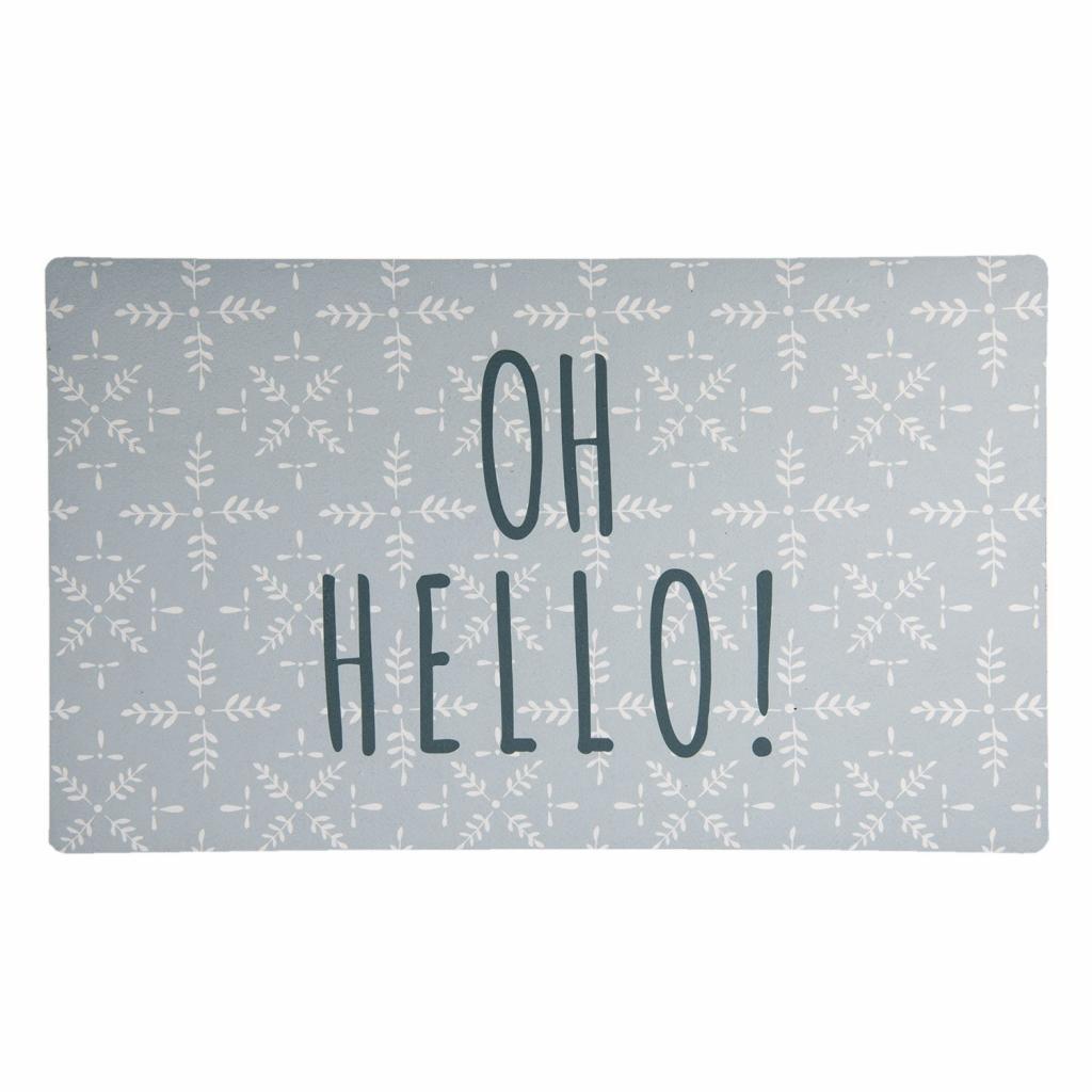 Produktové foto Clayre & Eef Podlahová rohožka Oh hello - 74*44*1 cm