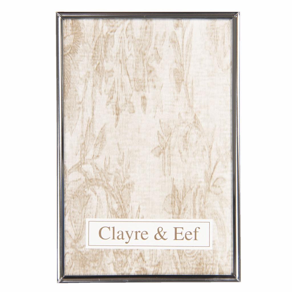 Produktové foto Clayre & Eef Stříbrný kovový fotorámeček  - 13*18 cm